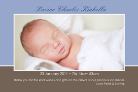 Boy Thank You Photo Cards for Baby, Baptism and Birthday BT08-Photo Cards, Photo invitations, Birth Announcements, Birth Announcement Cards, Christening Photo Invitations, Baptism Photo Invitations, Naming Day Photo Invitaitons, Birthday  Photo Invitations, Pregnancy Announcement Cards,Thankyou Photo Cards