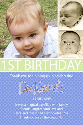 Boy Thank You Photo Cards for Baby, Baptism and Birthday BT11-Photo Cards, Photo invitations, Birth Announcements, Birth Announcement Cards, Christening Photo Invitations, Baptism Photo Invitations, Naming Day Photo Invitaitons, Birthday  Photo Invitations, Pregnancy Announcement Cards,Thankyou Photo Cards