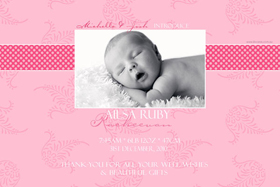 Girl Birth Announcements and Baby Thank You Photo Cards GA36-Photo cards, personalised photo cards, photocards, personalised photocards, baby cards, personalised baby cards, birth announcements, personalised birth announcements, christening invitations, personalised christening invitations, personalised invitations, personalised announcements, invitations, announcements, photo invitations, photo announcements, personalised photo invitations, personalised photo announcements, announcement cards, announcement photo cards, photo christening invitations, photo announcements, birthday invitations, personalised birthday invitations, photo birthday invitations, photocard birth announcements, photo card birth announcements, personalised photo card birth announcement, personalised photo birthday invitation, personalised invites, birth celebrations, personalised celebrations, personalised birth celebrations, baptism invitations, personalised baptism invitations, personalised photo baptism invitations, pregnancy announcements, pregnancy announcement cards,  pregnancy cards, personalised pregnancy announcements, personalised pregnancy announcement cards, personalised pregnancy cards, baby shower invitations, personalised baby shower invitations, engagement invitations, personalised engagement invitations, photo engagement invitations, personalised photo engagement invitations, engagement photo cards, save the date cards, personalised save the date cards, photo save the date cards, wedding thank-you cards, personalised wedding thank-you cards, wedding thank-you photo cards,