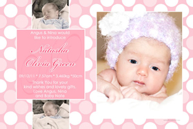 Girl Birth Announcements and Baby Thank You Photo Cards GA38-Photo cards, personalised photo cards, photocards, personalised photocards, baby cards, personalised baby cards, birth announcements, personalised birth announcements, christening invitations, personalised christening invitations, personalised invitations, personalised announcements, invitations, announcements, photo invitations, photo announcements, personalised photo invitations, personalised photo announcements, announcement cards, announcement photo cards, photo christening invitations, photo announcements, birthday invitations, personalised birthday invitations, photo birthday invitations, photocard birth announcements, photo card birth announcements, personalised photo card birth announcement, personalised photo birthday invitation, personalised invites, birth celebrations, personalised celebrations, personalised birth celebrations, baptism invitations, personalised baptism invitations, personalised photo baptism invitations, pregnancy announcements, pregnancy announcement cards,  pregnancy cards, personalised pregnancy announcements, personalised pregnancy announcement cards, personalised pregnancy cards, baby shower invitations, personalised baby shower invitations, engagement invitations, personalised engagement invitations, photo engagement invitations, personalised photo engagement invitations, engagement photo cards, save the date cards, personalised save the date cards, photo save the date cards, wedding thank-you cards, personalised wedding thank-you cards, wedding thank-you photo cards,