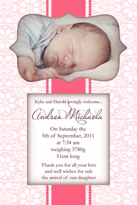 Girl Birth Announcements and Baby Thank You Photo Cards GA42-Photo cards, personalised photo cards, photocards, personalised photocards, baby cards, personalised baby cards, birth announcements, personalised birth announcements, christening invitations, personalised christening invitations, personalised invitations, personalised announcements, invitations, announcements, photo invitations, photo announcements, personalised photo invitations, personalised photo announcements, announcement cards, announcement photo cards, photo christening invitations, photo announcements, birthday invitations, personalised birthday invitations, photo birthday invitations, photocard birth announcements, photo card birth announcements, personalised photo card birth announcement, personalised photo birthday invitation, personalised invites, birth celebrations, personalised celebrations, personalised birth celebrations, baptism invitations, personalised baptism invitations, personalised photo baptism invitations, pregnancy announcements, pregnancy announcement cards,  pregnancy cards, personalised pregnancy announcements, personalised pregnancy announcement cards, personalised pregnancy cards, baby shower invitations, personalised baby shower invitations, engagement invitations, personalised engagement invitations, photo engagement invitations, personalised photo engagement invitations, engagement photo cards, save the date cards, personalised save the date cards, photo save the date cards, wedding thank-you cards, personalised wedding thank-you cards, wedding thank-you photo cards,