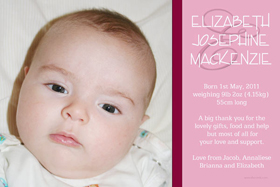 Girl Birth Announcements and Baby Thank You Photo Cards GA46-Photo cards, personalised photo cards, photocards, personalised photocards, baby cards, personalised baby cards, birth announcements, personalised birth announcements, christening invitations, personalised christening invitations, personalised invitations, personalised announcements, invitations, announcements, photo invitations, photo announcements, personalised photo invitations, personalised photo announcements, announcement cards, announcement photo cards, photo christening invitations, photo announcements, birthday invitations, personalised birthday invitations, photo birthday invitations, photocard birth announcements, photo card birth announcements, personalised photo card birth announcement, personalised photo birthday invitation, personalised invites, birth celebrations, personalised celebrations, personalised birth celebrations, baptism invitations, personalised baptism invitations, personalised photo baptism invitations, pregnancy announcements, pregnancy announcement cards,  pregnancy cards, personalised pregnancy announcements, personalised pregnancy announcement cards, personalised pregnancy cards, baby shower invitations, personalised baby shower invitations, engagement invitations, personalised engagement invitations, photo engagement invitations, personalised photo engagement invitations, engagement photo cards, save the date cards, personalised save the date cards, photo save the date cards, wedding thank-you cards, personalised wedding thank-you cards, wedding thank-you photo cards,