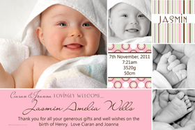 Girl Birth Announcements and Baby Thank You Photo Cards GA47-Photo cards, personalised photo cards, photocards, personalised photocards, baby cards, personalised baby cards, birth announcements, personalised birth announcements, christening invitations, personalised christening invitations, personalised invitations, personalised announcements, invitations, announcements, photo invitations, photo announcements, personalised photo invitations, personalised photo announcements, announcement cards, announcement photo cards, photo christening invitations, photo announcements, birthday invitations, personalised birthday invitations, photo birthday invitations, photocard birth announcements, photo card birth announcements, personalised photo card birth announcement, personalised photo birthday invitation, personalised invites, birth celebrations, personalised celebrations, personalised birth celebrations, baptism invitations, personalised baptism invitations, personalised photo baptism invitations, pregnancy announcements, pregnancy announcement cards,  pregnancy cards, personalised pregnancy announcements, personalised pregnancy announcement cards, personalised pregnancy cards, baby shower invitations, personalised baby shower invitations, engagement invitations, personalised engagement invitations, photo engagement invitations, personalised photo engagement invitations, engagement photo cards, save the date cards, personalised save the date cards, photo save the date cards, wedding thank-you cards, personalised wedding thank-you cards, wedding thank-you photo cards,