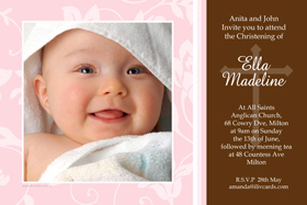 Girl Baptism, Christening and Naming Day Invitations and Thank You Photo Cards GC03-