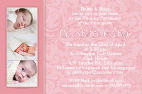 Girl Baptism, Christening and Naming Day Invitations and Thank You Photo Cards GC31-Photo cards, personalised photo cards, photocards, personalised photocards, personalised invitations, photo invitations, personalised photo invitations, invitation cards, invitation photo cards, photo invites, photocard birthday invites, photo card birth invites, personalised photo card birthday invitations, thank-you photo cards,