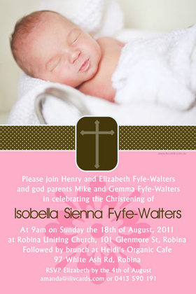 Girl Baptism, Christening and Naming Day Invitations and Thank You Photo Cards GC36-Photo cards, personalised photo cards, photocards, personalised photocards, personalised invitations, photo invitations, personalised photo invitations, invitation cards, invitation photo cards, photo invites, photocard birthday invites, photo card birth invites, personalised photo card birthday invitations, thank-you photo cards,