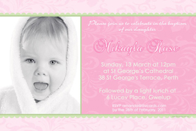Girl Baptism, Christening and Naming Day Invitations and Thank You Photo Cards GC37-Photo cards, personalised photo cards, photocards, personalised photocards, personalised invitations, photo invitations, personalised photo invitations, invitation cards, invitation photo cards, photo invites, photocard birthday invites, photo card birth invites, personalised photo card birthday invitations, thank-you photo cards,