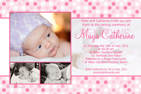Girl Baptism, Christening and Naming Day Invitations and Thank You Photo Cards GC41-Photo cards, personalised photo cards, photocards, personalised photocards, personalised invitations, photo invitations, personalised photo invitations, invitation cards, invitation photo cards, photo invites, photocard birthday invites, photo card birth invites, personalised photo card birthday invitations, thank-you photo cards,