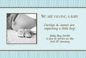Pregnancy Announcements Photo Cards PA05-Photo cards, pregnancy announcements, pregnancy announcement cards, personalised cards, personalised photo cards, personalised pregnancy announcements