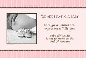 Pregnancy Announcements Photo Cards PA06-Photo cards, pregnancy announcements, pregnancy announcement cards, personalised cards, personalised photo cards, personalised pregnancy announcements