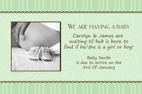 Pregnancy Announcements Photo Cards PA08-Photo cards, pregnancy announcements, pregnancy announcement cards, personalised cards, personalised photo cards, personalised pregnancy announcements