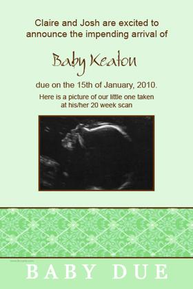 Pregnancy Announcements Photo Cards PA14-Photo cards, pregnancy announcements, pregnancy announcement cards, personalised cards, personalised photo cards, personalised pregnancy announcements