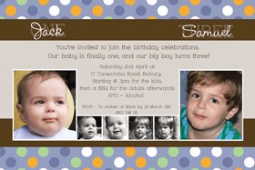 Brothers Photo Birthday Invitations and Thank you Cards SB07-Photo cards, personalised photo cards, photocards, personalised photocards, personalised invitations, photo invitations, personalised photo invitations, invitation cards, invitation photo cards, photo invites, photocard birthday invites, photo card birth invites, personalised photo card birthday invitations, thank-you photo cards,