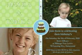 Brothers Photo Birthday Invitations and Thank you Cards SB10-Photo cards, personalised photo cards, photocards, personalised photocards, personalised invitations, photo invitations, personalised photo invitations, invitation cards, invitation photo cards, photo invites, photocard birthday invites, photo card birth invites, personalised photo card birthday invitations, thank-you photo cards,