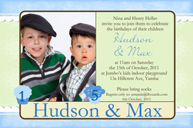 Brothers Photo Birthday Invitations and Thank you Cards SB16-Photo cards, personalised photo cards, photocards, personalised photocards, personalised invitations, photo invitations, personalised photo invitations, invitation cards, invitation photo cards, photo invites, photocard birthday invites, photo card birth invites, personalised photo card birthday invitations, thank-you photo cards,