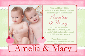 Sisters Photo Birthday Invitations and Thank you Cards SB18-Photo cards, personalised photo cards, photocards, personalised photocards, personalised invitations, photo invitations, personalised photo invitations, invitation cards, invitation photo cards, photo invites, photocard birthday invites, photo card birth invites, personalised photo card birthday invitations, thank-you photo cards,