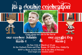 Brothers Photo Birthday Invitations and Thank you Cards SB19-Photo cards, personalised photo cards, photocards, personalised photocards, personalised invitations, photo invitations, personalised photo invitations, invitation cards, invitation photo cards, photo invites, photocard birthday invites, photo card birth invites, personalised photo card birthday invitations, thank-you photo cards, cowboy invitations, cowgirl invitations
