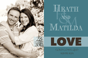 Wedding Save the Date Photo Cards SD01-
