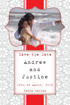 Wedding Save the Date Photo Cards SD06-