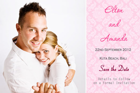 Wedding Save the Date Photo Cards SD07-
