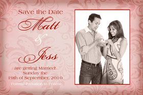 Wedding Save the Date Photo Cards SD09-