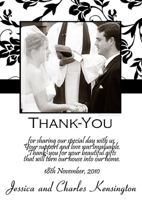 Wedding Thank You Photo Cards WT02-Photo Cards, Photo invitations, Birth Announcements, Birth Announcement Cards, Christening Photo Invitations, Baptism Photo Invitations, Naming Day Photo Invitaitons, Birthday  Photo Invitations, Pregnancy Announcement Cards,Thankyou Photo Cards
