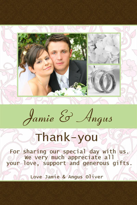 Wedding Thank You Photo Cards-Photo Cards, Photo invitations, Birth Announcements, Birth Announcement Cards, Christening Photo Invitations, Baptism Photo Invitations, Naming Day Photo Invitaitons, Birthday  Photo Invitations, Pregnancy Announcement Cards,Thankyou Photo Cards