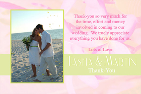 Wedding Thank You Photo Cards WT07-Photo Cards, Photo invitations, Birth Announcements, Birth Announcement Cards, Christening Photo Invitations, Baptism Photo Invitations, Naming Day Photo Invitaitons, Birthday  Photo Invitations, Pregnancy Announcement Cards,Thankyou Photo Cards
