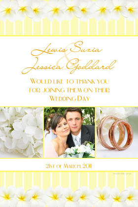 Wedding Thank You Photo Cards WT08-Photo Cards, Photo invitations, Birth Announcements, Birth Announcement Cards, Christening Photo Invitations, Baptism Photo Invitations, Naming Day Photo Invitaitons, Birthday  Photo Invitations, Pregnancy Announcement Cards,Thankyou Photo Cards