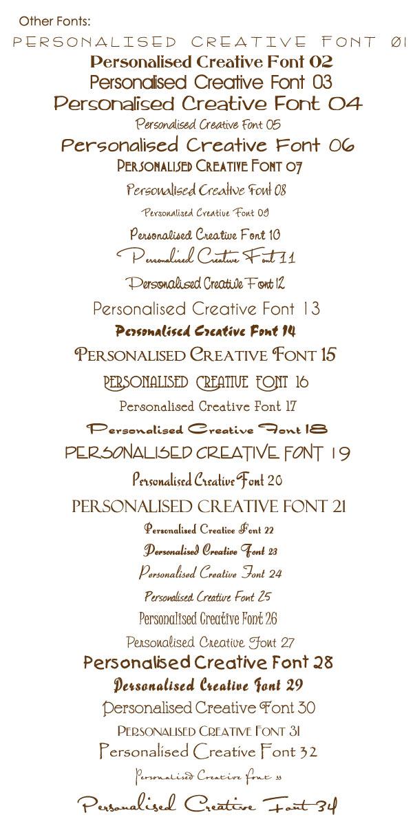 photo card creative fonts