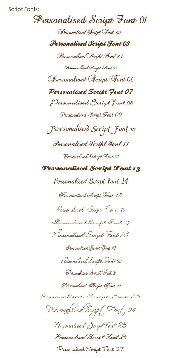 photo card script fonts