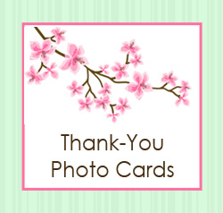 Baby, Baptism, Birthday and Wedding Thank you Photo Cards
