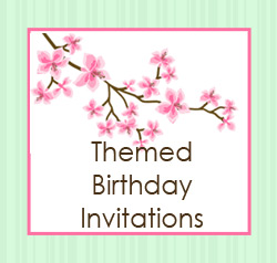 Themed Birthday Invitations