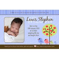 Birth Announcements and Baby Thank You Photo Cards for Boys - BA02