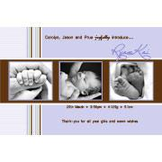 Birth Announcements and Baby Thank You Photo Cards for Boys - BA09