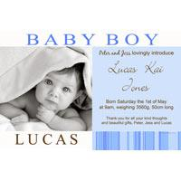 Birth Announcements and Baby Thank You Photo Cards for Boys - BA10