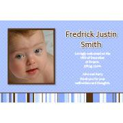 Birth Announcements and Baby Thank You Photo Cards for Boys - BA11