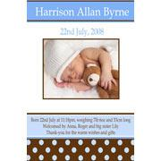 Birth Announcements and Baby Thank You Photo Cards for Boys - BA12