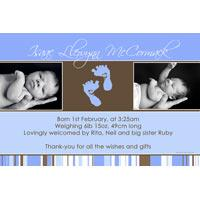 Birth Announcements and Baby Thank You Photo Cards for Boys - BA13