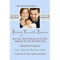 Boy Birth Announcements and Baby Thank You Photo Cards BA25-Photo cards, personalised photo cards, photocards, personalised photocards, baby cards, personalised baby cards, birth announcements, personalised birth announcements, christening invitations, personalised christening invitations, personalised invitations, personalised announcements, invitations, announcements, photo invitations, photo announcements, personalised photo invitations, personalised photo announcements, announcement cards, announcement photo cards, photo christening invitations, photo announcements, birthday invitations, personalised birthday invitations, photo birthday invitations, photocard birth announcements, photo card birth announcements, personalised photo card birth announcement, personalised photo birthday invitation, personalised invites, birth celebrations, personalised celebrations, personalised birth celebrations, baptism invitations, personalised baptism invitations, personalised photo baptism invitations, pregnancy announcements, pregnancy announcement cards,  pregnancy cards, personalised pregnancy announcements, personalised pregnancy announcement cards, personalised pregnancy cards, baby shower invitations, personalised baby shower invitations, engagement invitations, personalised engagement invitations, photo engagement invitations, personalised photo engagement invitations, engagement photo cards, save the date cards, personalised save the date cards, photo save the date cards, wedding thank-you cards, personalised wedding thank-you cards, wedding thank-you photo cards,