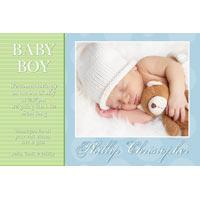Birth Announcements and Baby Thank You Photo Cards for Boys - BA30