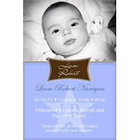 Birth Announcements and Baby Thank You Photo Cards for Boys - BA44