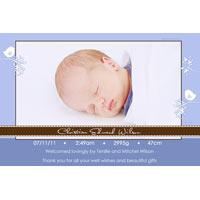 Birth Announcements and Baby Thank You Photo Cards for Boys - BA45