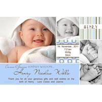 Birth Announcements and Baby Thank You Photo Cards for Boys - BA47