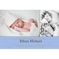 Birth Announcements and Baby Thank You Photo Cards for Boys - BA48