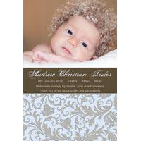 Birth Announcements and Baby Thank You Photo Cards for Boys - BA49