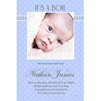 Boy Birth Announcements and Baby Thank You Photo Cards BA51-Photo cards, personalised photo cards, photocards, personalised photocards, baby cards, personalised baby cards, birth announcements, personalised birth announcements, christening invitations, personalised christening invitations, personalised invitations, personalised announcements, invitations, announcements, photo invitations, photo announcements, personalised photo invitations, personalised photo announcements, announcement cards, announcement photo cards, photo christening invitations, photo announcements, birthday invitations, personalised birthday invitations, photo birthday invitations, photocard birth announcements, photo card birth announcements, personalised photo card birth announcement, personalised photo birthday invitation, personalised invites, birth celebrations, personalised celebrations, personalised birth celebrations, baptism invitations, personalised baptism invitations, personalised photo baptism invitations, pregnancy announcements, pregnancy announcement cards,  pregnancy cards, personalised pregnancy announcements, personalised pregnancy announcement cards, personalised pregnancy cards, baby shower invitations, personalised baby shower invitations, engagement invitations, personalised engagement invitations, photo engagement invitations, personalised photo engagement invitations, engagement photo cards, save the date cards, personalised save the date cards, photo save the date cards, wedding thank-you cards, personalised wedding thank-you cards, wedding thank-you photo cards,