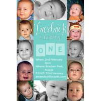 Birthday Invitations and Thank you Photo Cards for Boys BB02