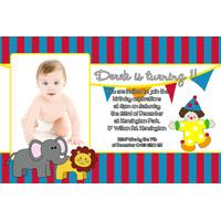 Birthday Invitations and Thank you Photo Cards for Boys BB03