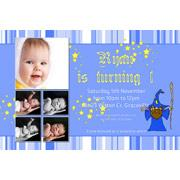 Birthday Invitations and Thank you Photo Cards for Boys BB04